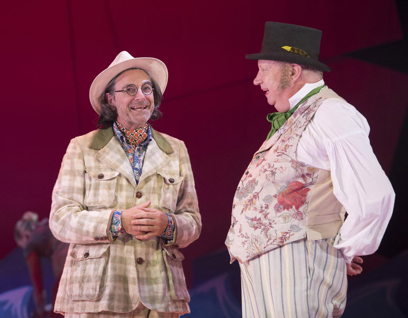 Doctor Dolittle (Mark Williams) and Albert Blossom (Brian Capron)