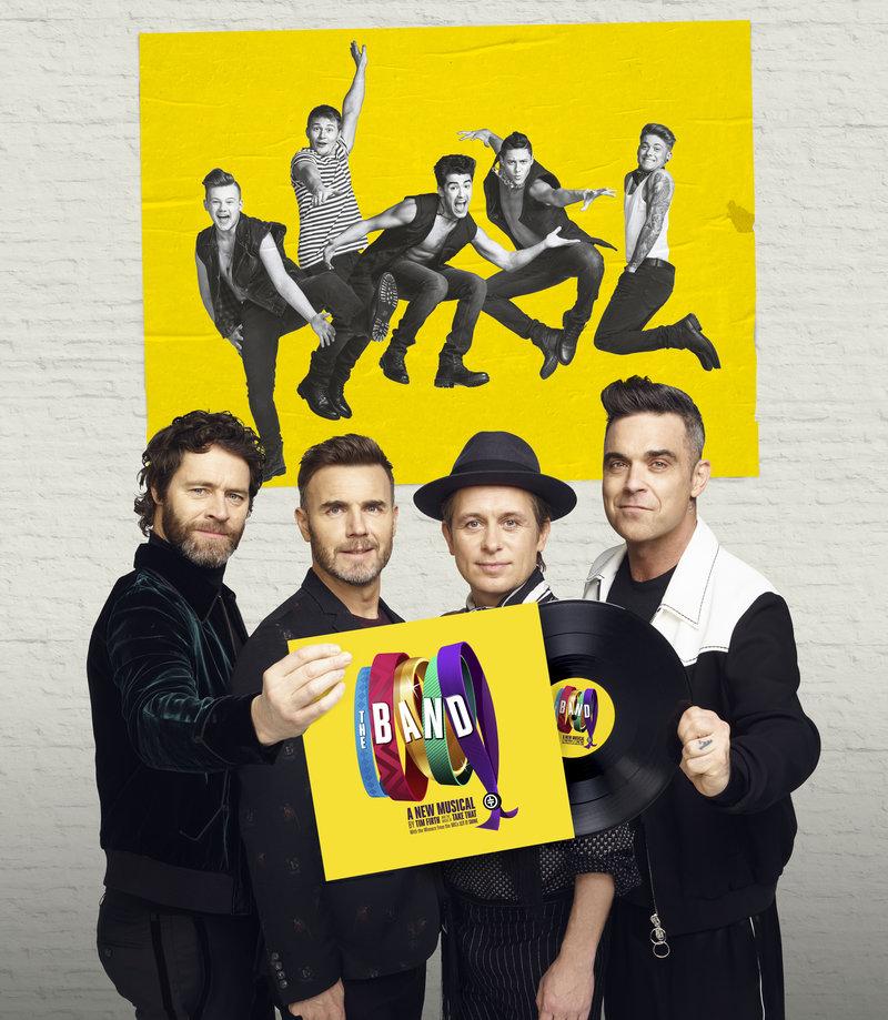 Howard Donald, Gary Barlow, Mark Owen, Robbie Williams and The Band