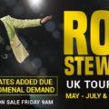 ROD STEWART ANNOUNCES MORE DATES FOR 2019 UK TOUR Manchester Arena – Sat 23 November