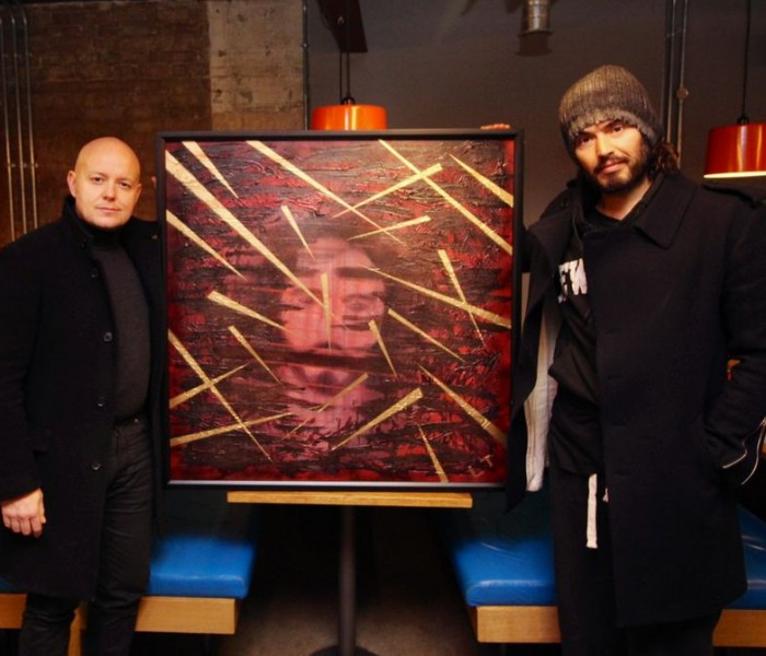 Russell Brand And UK Artist Lincoln Townley Collaborate Again For Abstinence-Based Recovery Charity