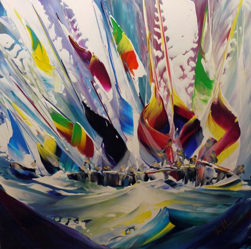 Artist - Jan Nelson _ Title - Windy conditions _ Medium - Acrylic on board