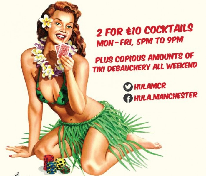 2 For £10 Cocktails At HULA