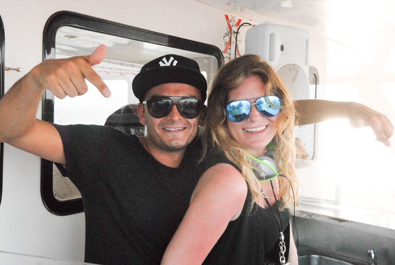 VIVA Ems DJing on Pukka Up Boat Party