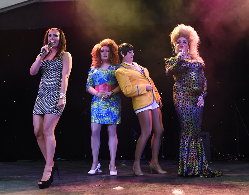 Kim Marsh performing at Manchester Pride. Photo by Stephen Farrell.