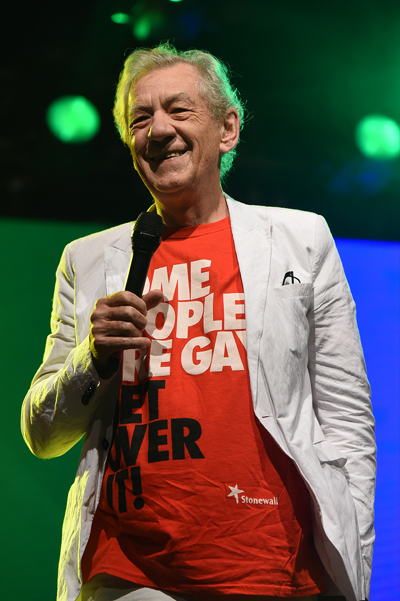 Activitist: Sir Ian McKellen at Manchester Pride. Photo by Stephen Farrell.