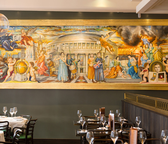 Michael J Browne's Painting At Gusto Manchester Unveiled