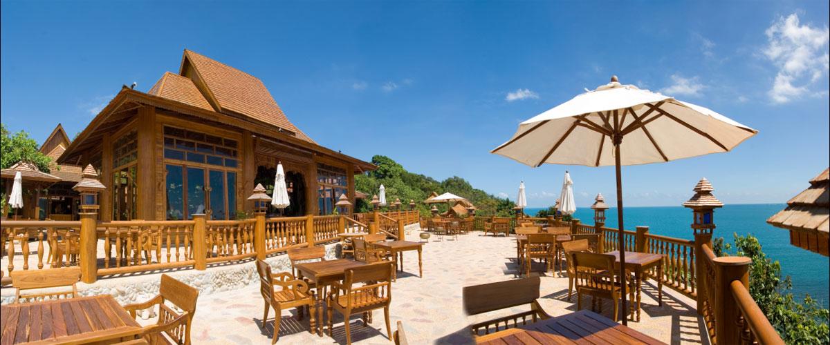 Chantara restaurant has stunning views
