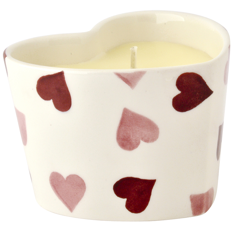 Pink Hearts Candle