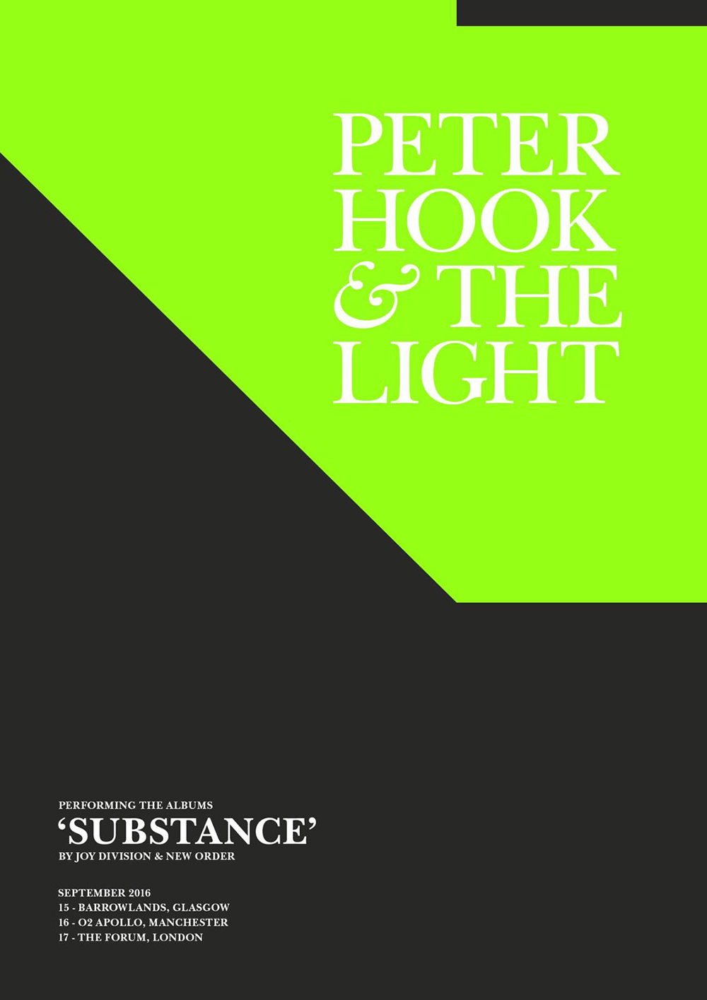 The Light Substance UK Tour Poster JD