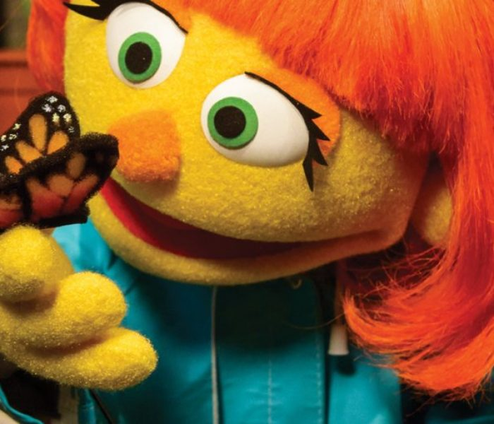 Meet Julia, The New Sesame Street Character, Raising Awareness Of Autism.