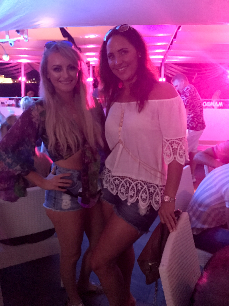 Katie Mcglynn (Corrie) & Lorna Bancorft (Heart FM) at Cafe Mambo