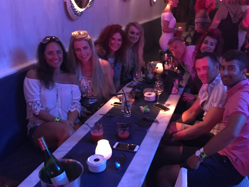 The VIVA Ibiza gang 2017 at Cafe Mambo
