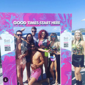 The VIVA Ibiza gang at Sol House