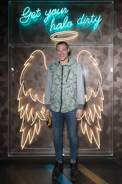 Will Young at the launch of Dirty Martini Manchester. Photo: Carl Sukonik / The Vain