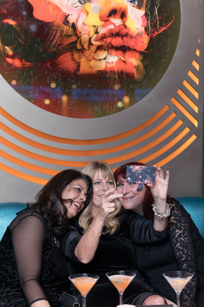 Tracey Dunn, Diane Cooke and Debbie Manley at the Dirty Martini launch party. Photo by Carl Sukonik / The Vain.