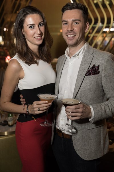 Ashley and Ryan Guthrie at the Dirty Martini launch party. Photo by Carl Sukonik / The Vain.