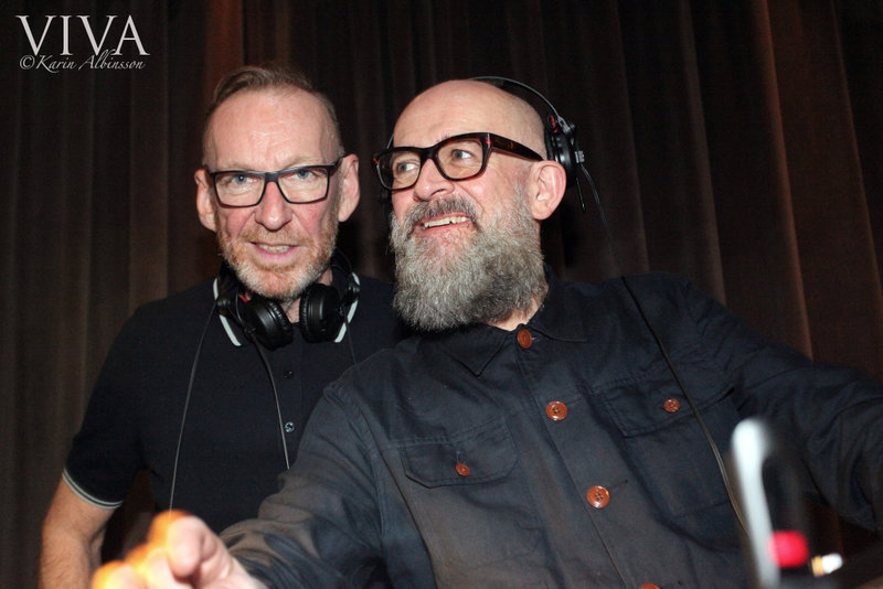 Hacienda DJs Mike Pickering and Graeme Park at the after party in Abode Hotel, Manchester. Photo: Karin Albinsson.