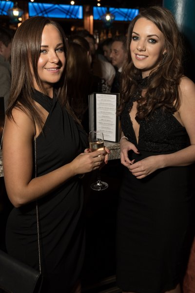 Milly Warburton and Laura-Louise Betts at the Dirty Martini launch party. Photo by Carl Sukonik / The Vain.