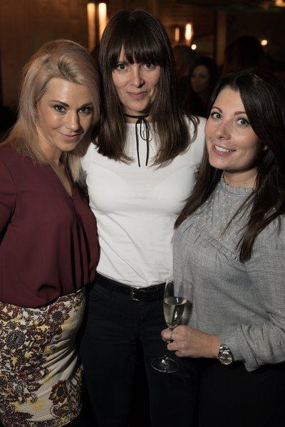 Sam Pollard, Claire Bradshaw and Kim Lyon at the Dirty Martini launch party. Photo: Carl Sukonik / The Vain