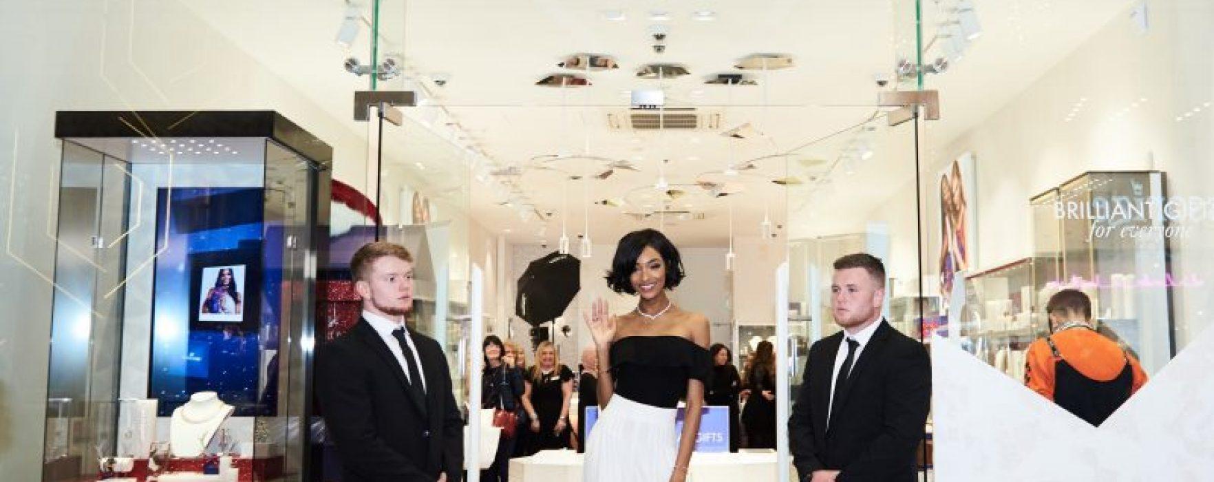 Supermodel Jourdan Dunn Makes An Appearance At Swarovski Manchester