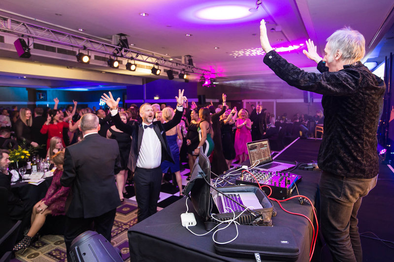 Clint Boon at NSPCC Childline Ball Manchester. Photo by Sasha Ray