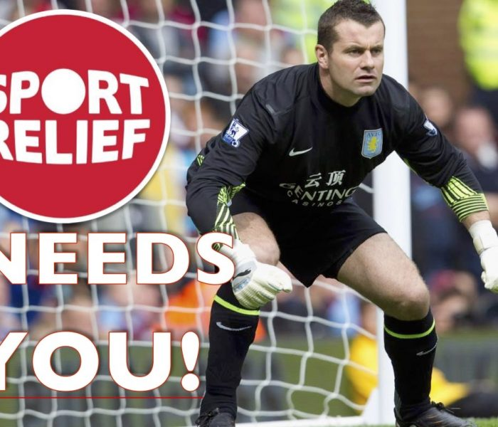 Former Manchester City goalie Given dons gloves for Sport Relief penalty shoutout