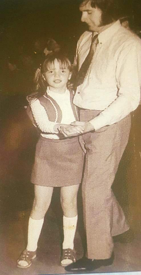 Zoë dancing with her father Bryan Winship