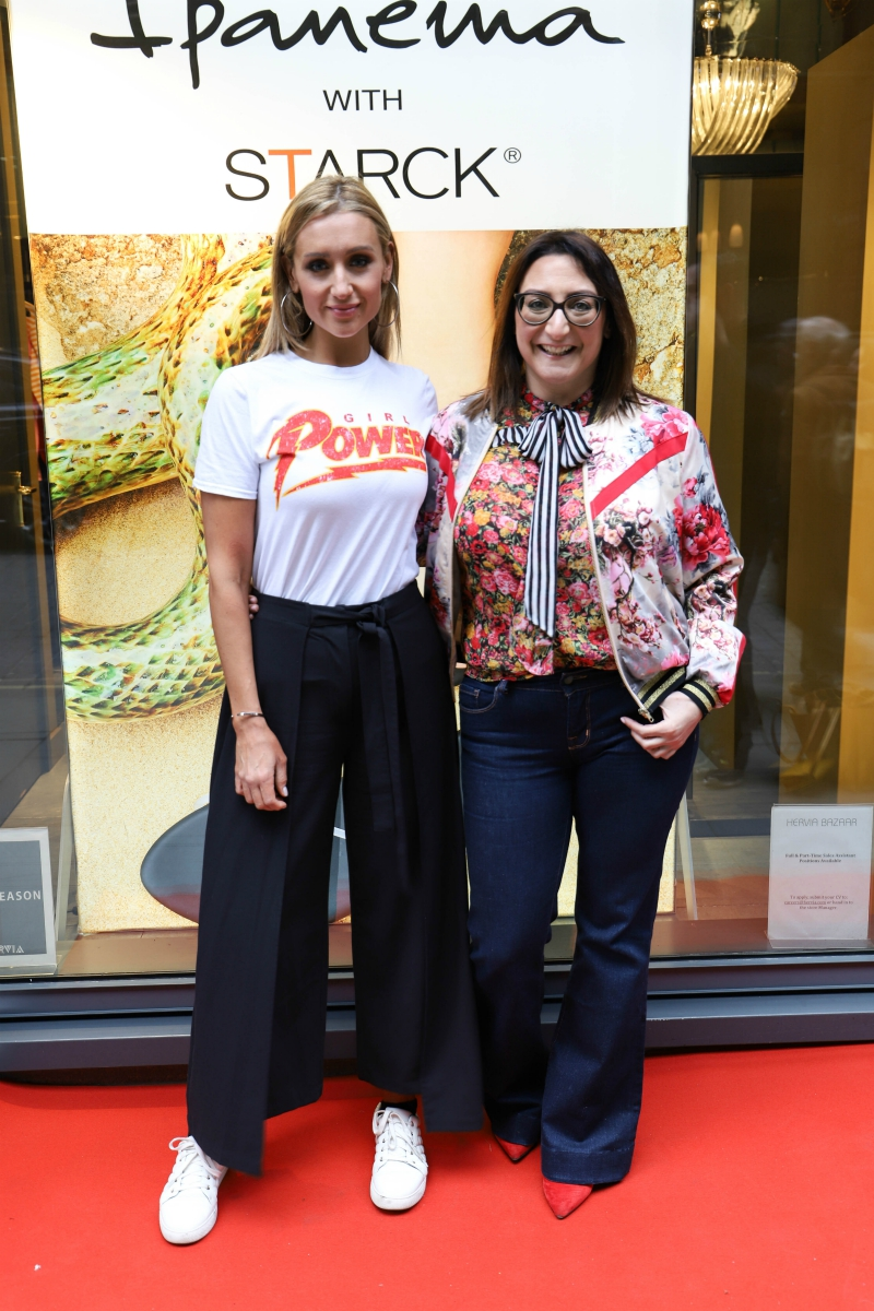 Cath Tyldesley and Martine Alexander