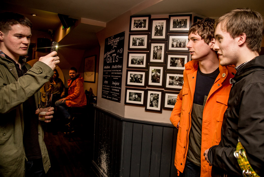 Cavorting, Courteeners pre-show party at Liquor Store. Photo by Elspeth Moore.