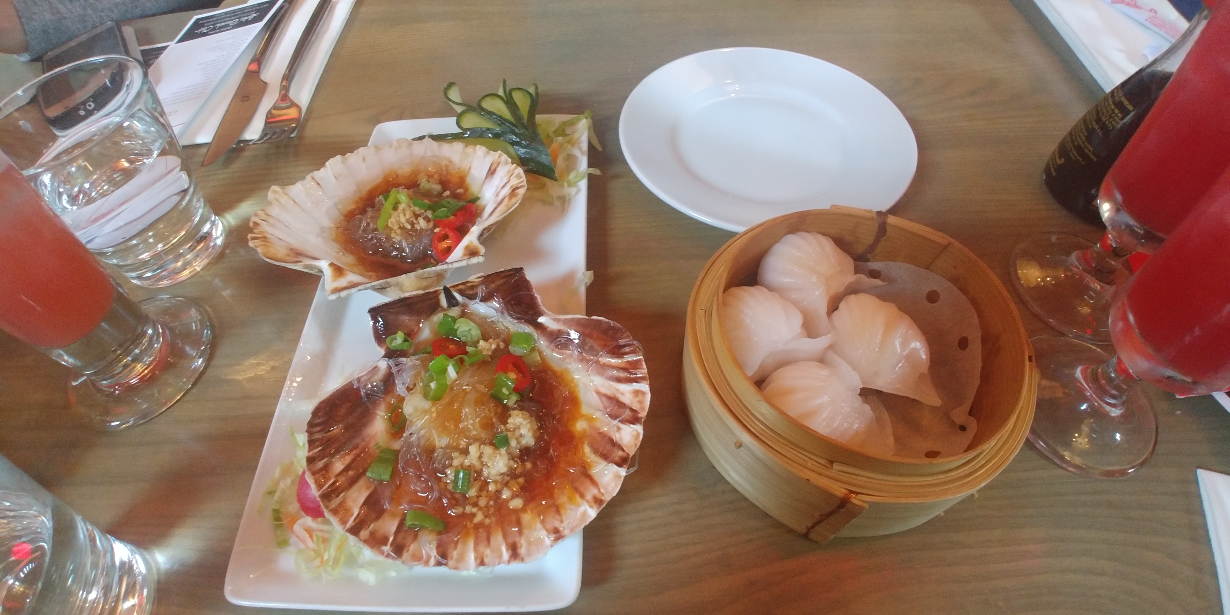 Scallops and 'Har Gau'