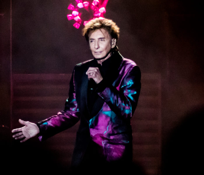 Barry Manilow receives RNCM honours while performing on stage at Manchester Arena