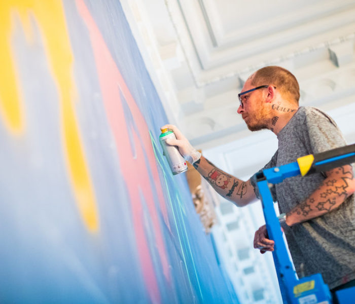 Internationally-renowned street artist chooses cult classic film name for major mural in Manchester