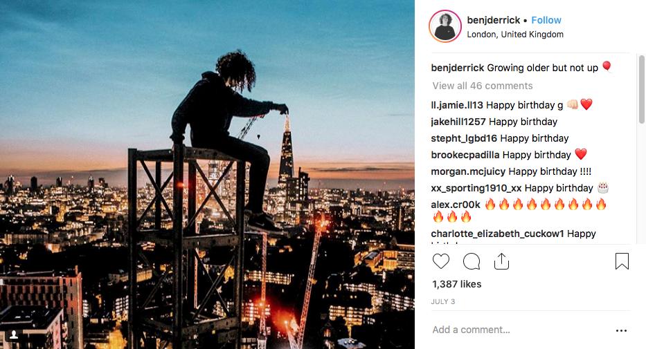 Pic taken from @benjderrick Instagram