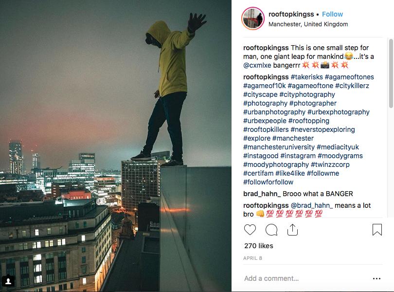 Pic taken from @rooftopkingss Instagram