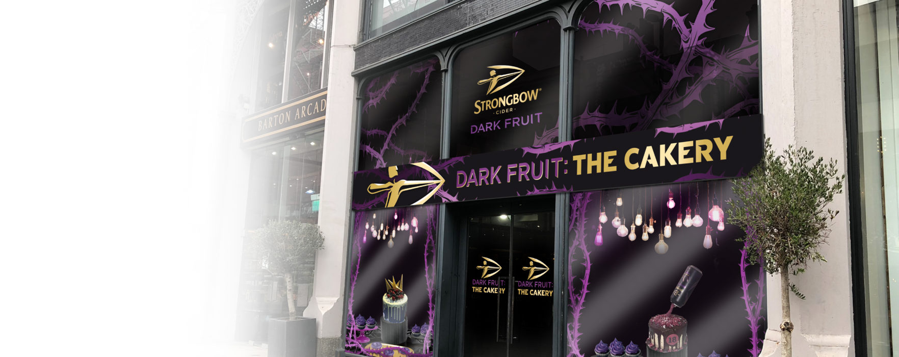 There's a Strongbow Dark Fruit cakery opening in Manchester!