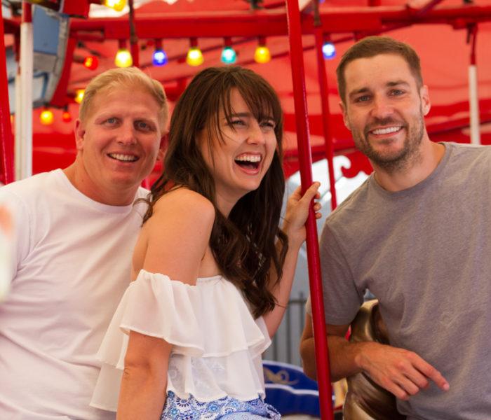 When E.M.A met the Gold Coast's top breakfast show hosts' Heather, Dan & Ben from Sea FM