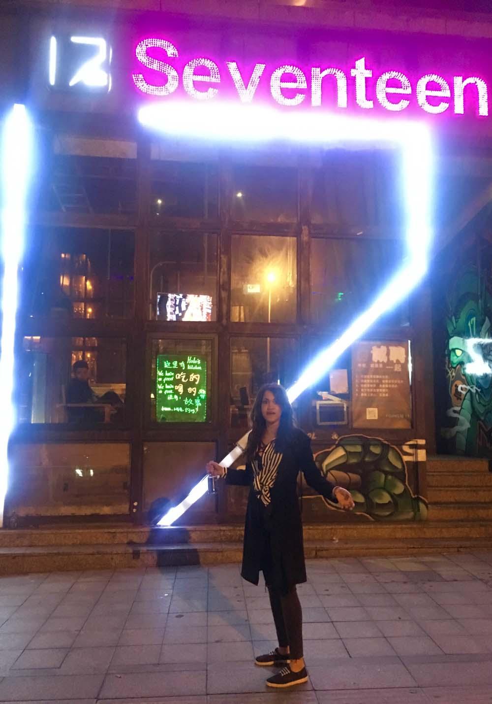 Andrea Lopez outside 17 Club