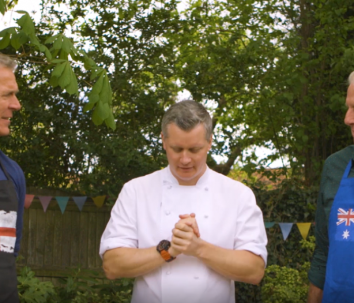 WATCH: Ex-England captain Alec Stewart OBE and former Aussie fast-bowler Jeff Thomson bring their fiery rivalry into the culinary arena