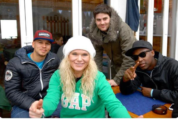 Snowbombing hanging with Rudimental