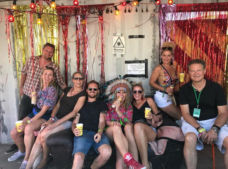 Bestival, backstage with family & friends