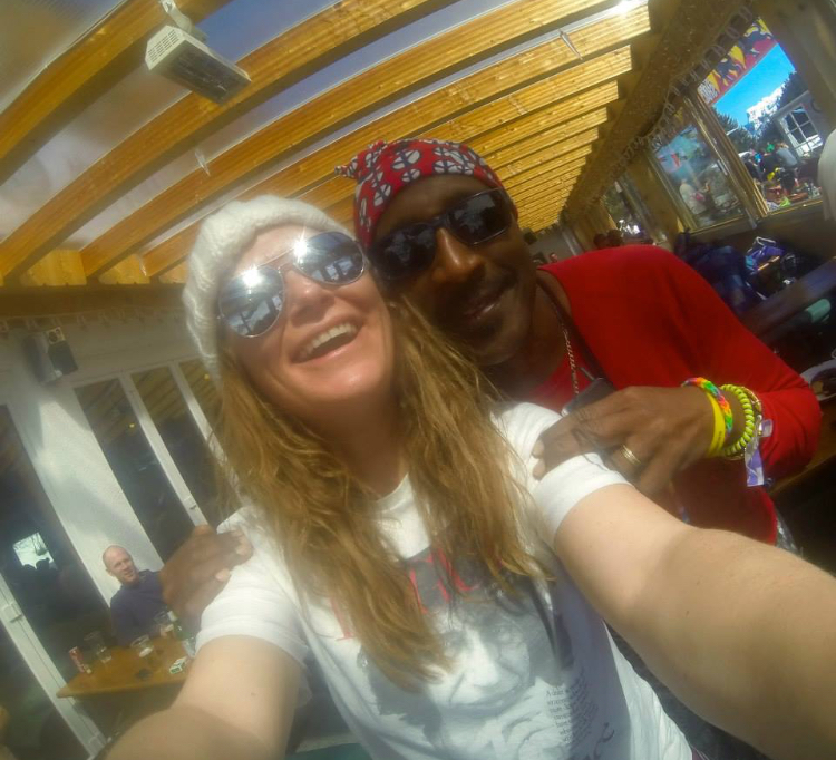 Snowbombing hanging with Mr Motivator