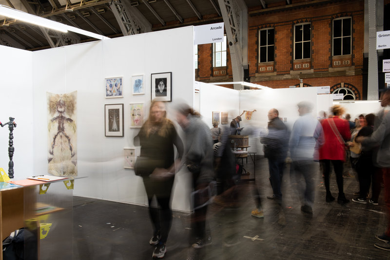People gathered at Manchester Art Fair