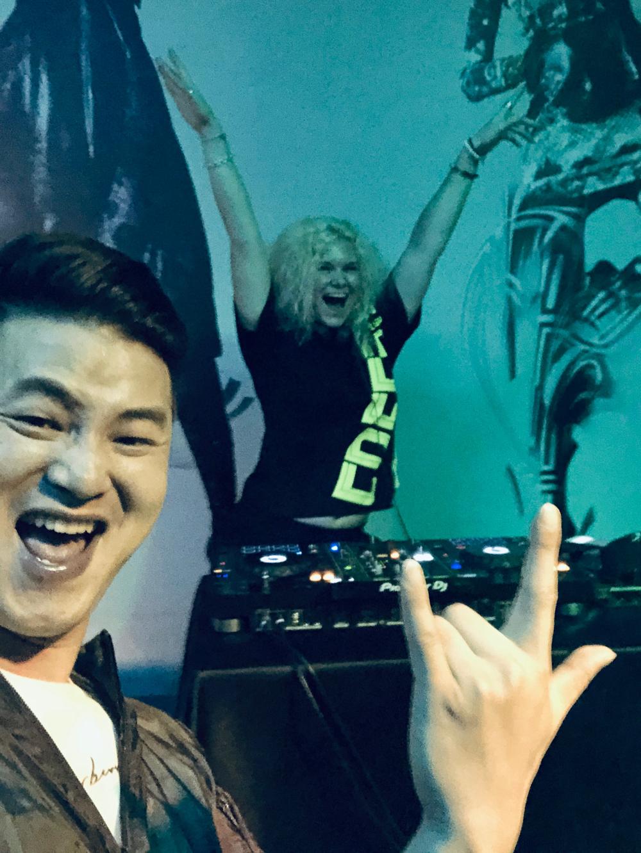 DJing at Bar 93