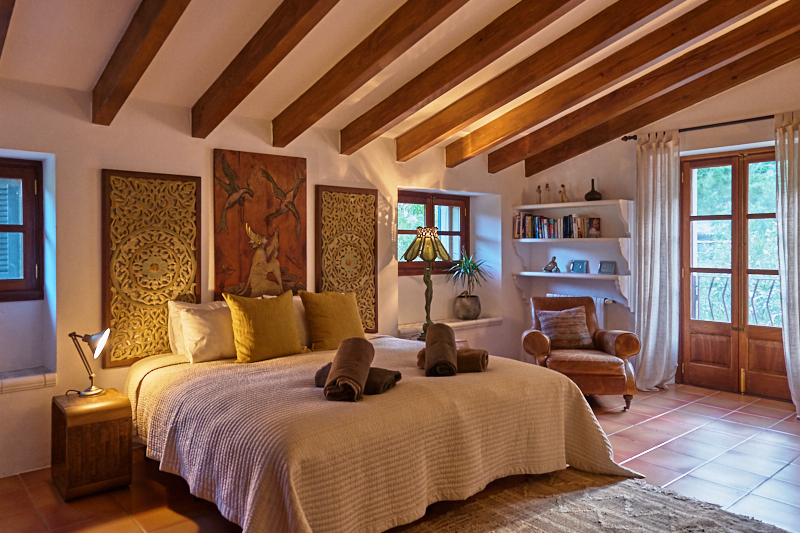 One of the double rooms at Deia Retreat, Deia, Mallorca