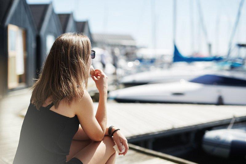 Scandinavian Marina in the sun