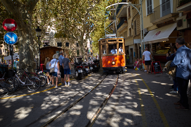 The Train/Tram in Soller, Mallorca