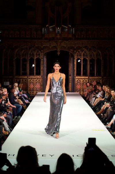 Galvan dress £1795, Sophia Webster shoes £425, Alinka jewellery