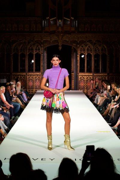 Paco Rabanne top £560, Versace skirt, £1200 Alexandre Birman boots £950, Chloe bag £1230