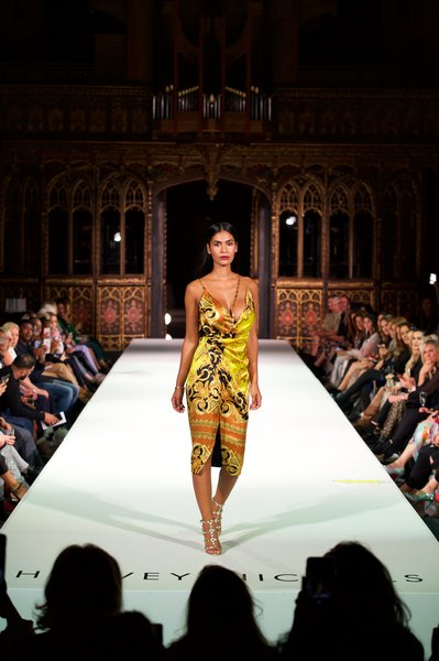 Versace dress £2970, Valentino shoes £705