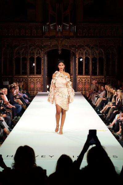 Model wearing Zimmerman ress £1650, Sophia Webster shoes £395